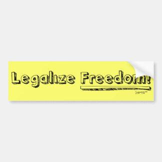 Legaliseraa frihet! Bildekal