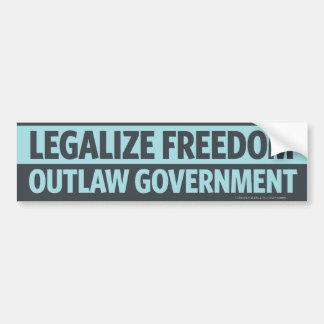 Legaliseraa frihet, fredlösregeringbildekal bildekal