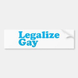 Legaliseraa glatt baby blue bildekal