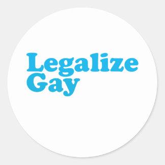 Legaliseraa glatt baby blue runt klistermärke