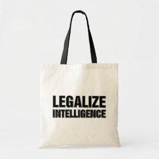 Legaliseraa intelligens hänger lös tygkasse