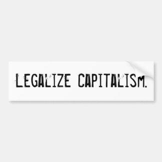 Legaliseraa kapitalismbildekal bildekal