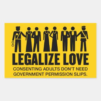 Legaliseraa kärlek rektangulärt klistermärke