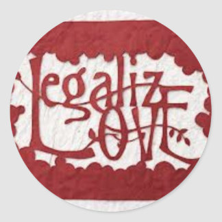 legaliseraa kärlek runt klistermärke