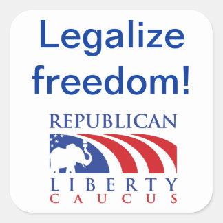 Legaliseraa klistermärkear för frihet RLC Fyrkantigt Klistermärke