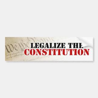 Legaliseraa konstitutionen bildekal