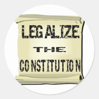 Legaliseraa konstitutionen runt klistermärke