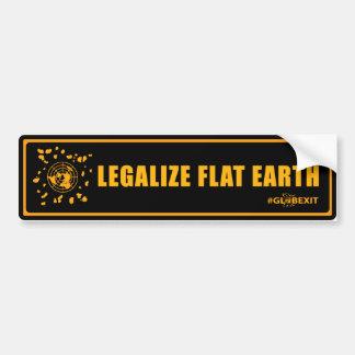 Legaliseraa lägenhetjordbildekal (black&orange) bildekal