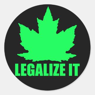 Legaliseraa lönn runt klistermärke