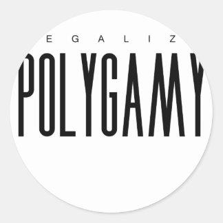 Legaliseraa Polygamy Runt Klistermärke