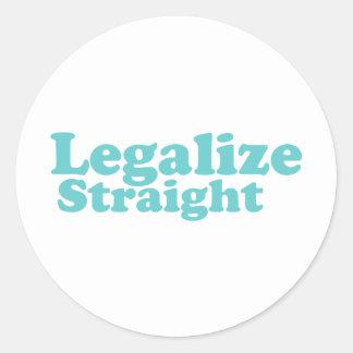 Legaliseraa raka blått runt klistermärke
