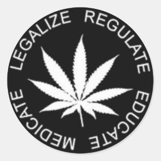 Legaliseraa-Reglera Runt Klistermärke
