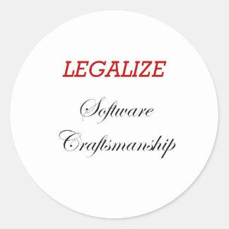 Legaliseraa softwarehantverk runt klistermärke