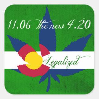 Legalization av ogräset i Colorado Fyrkantigt Klistermärke