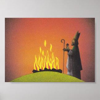 Legenden av saint patrick och det påsk- avfyrar poster