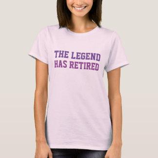 Legenden har avgått lila t-shirt