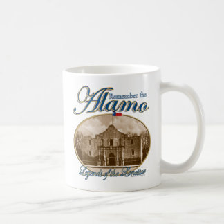 Legender av Lonestaren minns den Alamo muggen Kaffemugg