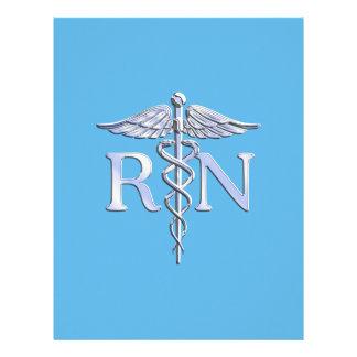 Legitimerad sjuksköterskaRN-Caduceus på baby blue Reklamblad 21,5 X 30 Cm