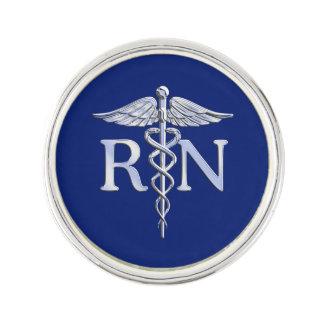 Legitimerad sjuksköterskaRN-Caduceus på marinblå Kavajnål