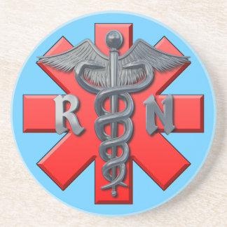 Legitimerad sjuksköterskasymbol underlägg sandsten