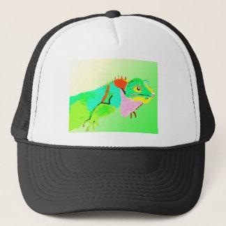 Leguan i färg keps