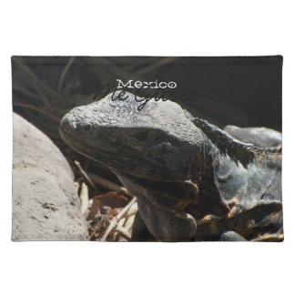Leguanen i skuggar; Mexico souvenir Bordstablett
