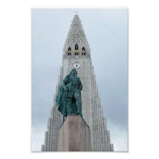 Leif Erikson staty, island, 8x12 Fototryck