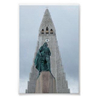 Leif Erikson staty, island Fototryck