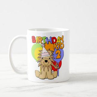 Lejon 2nd födelsedag kaffe kopp