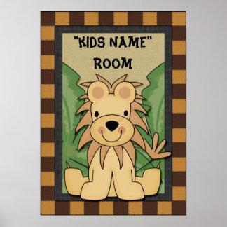 Lejon affisch för ungenamnrum poster