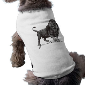Lejon älsklings- skjorta för vintage hundtröja