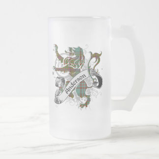 Lejon anderssonTartan Frostat Ölglas