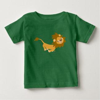 Lejon babyT-tröja för gullig rinnande tecknad Tee Shirt