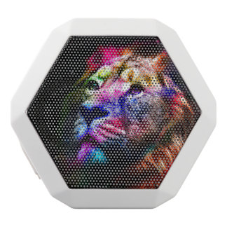 Lejon - färgrikt lejont - lejon konst för utrymme vit bluetooth högtalare