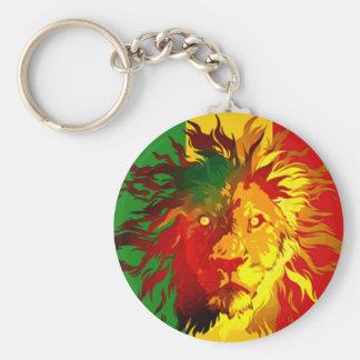 lejon flagga för rastareggae rund nyckelring