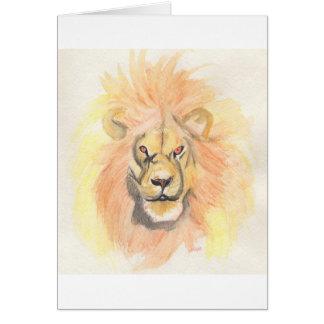 Lejon   första stjärnakonst vid jrr hälsningskort