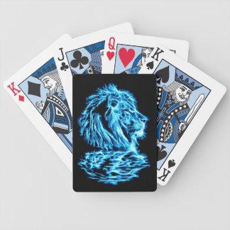 Lejon Fractalkonst för blått Spelkort
