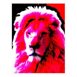 Lejon Head rosa vykort