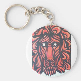 Lejon hjärta rund nyckelring