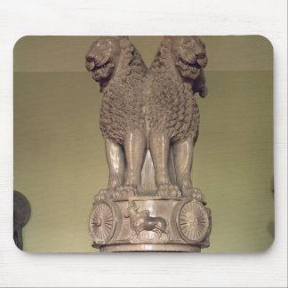 Lejon huvudstad från pelaren av kejsaren Ashoka Musmatta