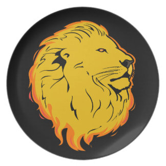Lejon konstdesign tallrik
