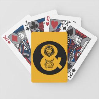 Lejon & lodjurlogotyp spelkort