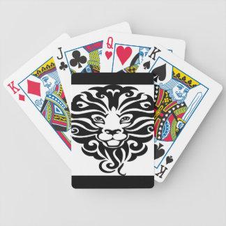 Lejon maskot för ursnygg vild spelkort