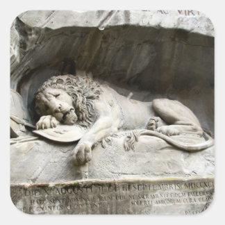 Lejon monument, Lucerne Fyrkantigt Klistermärke