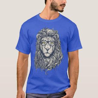 Lejon rolig manar för kall Hipster kunglig T-tröja T-shirts