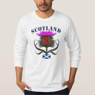 Lejon Skottland thistle och saltireflaggadesign Tee