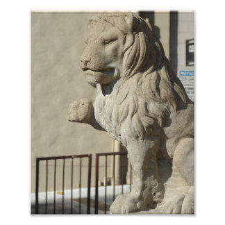 Lejon staty för Kansas City Plaza Fototryck