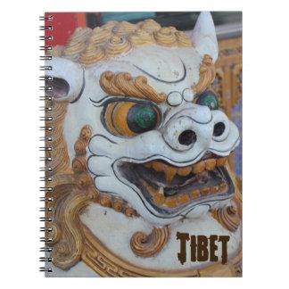 Lejon staty för tibetan snö anteckningsbok