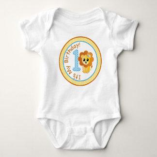 Lejon t-skjorta för första födelsedag, 1st tee