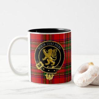 Lejon Tartan för skotsk klanvapensköld Två-Tonad Mugg